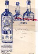 85- LUCON- RARE MENU CAFE LIQUEUR ELIXIR H. VRIGNAUD FILS-DISTILLATEUR -DISTILLERIE-IMPRIMERIE E. BAELDE POITIERS-LIEGE - Menus