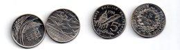 4 Pièces De 5 Francs Semeuse -non Argent-voir état - Non Classés