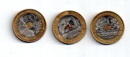 4 Pièces De 20 Francs -non Argent-voir état - Non Classés