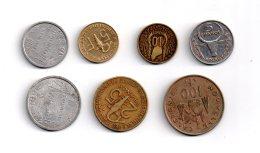 Un Lot De 7 Pièces-voir état - Monnaies & Billets