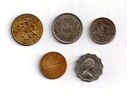 Un Lot De 5 Pièces-voir état - Monnaies & Billets