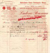 86- CHATELLERAULT- FACTURE LUDOVIC BRUNEAU- QUINCAILLERIE FONTE FERRONNERIE PLOMBERIE-PLACE BLOSSAC- 1925 - Petits Métiers