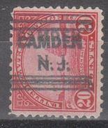 USA Precancel Vorausentwertungen Preo, Locals New Jersey, Camden 698-631 - Etats-Unis