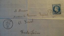 France - Lettre Enveloppe - GC 11143 Sur 20c Bleu Napoléon III Lauré YT N° 29 - Année 1869 - 1849-1876: Classic Period