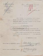 16 1787 COGNAC CHARENTE 1909 Maison A. DELEZINIER  Succursale SAINTES SEGONZAC SAINT BONNET TRONCAIS - 1900 – 1949