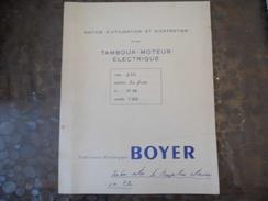 Lettre & Doc Tambour Moteur Electrique - Boyer - Saint Quentin - - Vieux Papiers