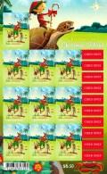 Christmas Island 2017 Christmas Embellished Self-adhesive Sheetlet MNH - Christmas Island