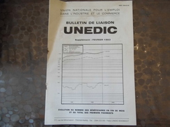 Documents UNEDIC - 1983 - Bulletin De Liaison - Vieux Papiers
