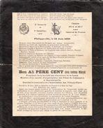 1930 - Philippeville (Algérie) - Caserne De France - 3ème Zouaves - Père Cent - Faire-part - FRANCO DE PORT - Militari