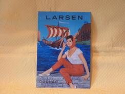 """Publicité Tôle """"COGNAC LARSEN"""" - Liquor & Beer"""