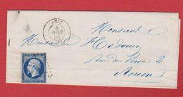 Lettre  / De Anet /  Pour Rouen / 6 Avril 1856 - Storia Postale