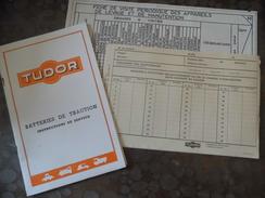Document - TUDOR  - Batteries De Traction - Instruction , Suivi - Vieux Papiers