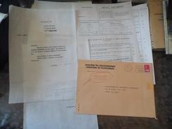 Document - Lettre Enveloppe - Service Des Mines & Simons Carrelages - 1975 - Titres De Transport
