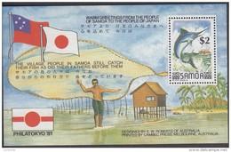 SAMOA, 1981 PHILATOKYO MINISHEET MNH - Samoa