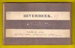 Zeer Oude Militaire STAFKAART 10/5 Op Linnen Situatie 1872 BEVERBEEK Hamont-Achel Station Spoorweg ANTIQUARIAAT S823 - Hamont-Achel