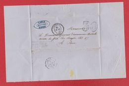 Plis  / De Dieuze /  Pour Paris / 7 Juillet 1854 - Marcophilie (Lettres)