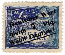 (I.B) Poland Revenue : Duty Stamp 7pf On 1M (German Overprint) - Poland