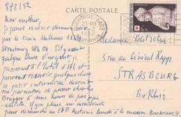 Flamme De Mulhouse Gare 1952 S/TP Croix-rouge - Alsace-Lorraine