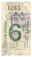 (I.B) Great Western Railway : Prepaid Parcel 6d (Calne Black Dog Siding) - 1840-1901 (Viktoria)