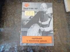 Document -tarif - OPTIBELT - 1982 -courroie - Titres De Transport