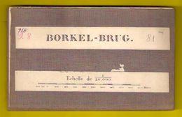 Zeer Oude Militaire STAFKAART 9/8 Op Linnen Situatie 1872 BORKEL-BRUG Hamont-Achel Neerpelt Overpelt ANTIQUARIAAT S824 - Hamont-Achel