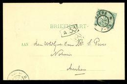 HANDGESCHREVEN BRIEFKAART Uit 1906  NVPH 55 Van BREDA Naar ARNHEM (10.658d) - Periode 1891-1948 (Wilhelmina)