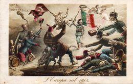710Ax   Italie Illustrateur Satirique Patriotisme Propagande L'Europa Nel 1912 - Illustrateurs & Photographes