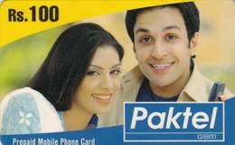 Pakistan, MOB-PK01-?, Rs. 100 Paktel Woman And Man, 2 Scans.   Exp. : 15-08-2007 - Pakistan