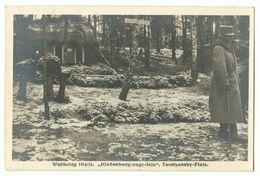 """1. Weltkrieg """"Hindenburg-nagy-falu"""" Terstyansky-Platz Photo-AK 1915 - Weltkrieg 1914-18"""