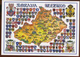 Postcard Czech Republlic : Morava Slezsko : Heraldry, Coats Of Arms - Czech Republic
