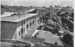 STANSERHORN → Bergstation Mit Hotel Und Glärnisch, Fotokarte 1949 - NW Nidwalden