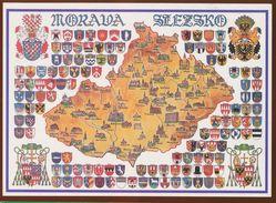 Postcard Czech Republic :  Morava Slezsko Heraldry, Coats Of Arms / Antonin Javora (autor) - Czech Republic