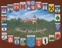 Postcard Czech Republic :  Hrad Grabstejn  Heraldry, Coats Of Arms - Czech Republic