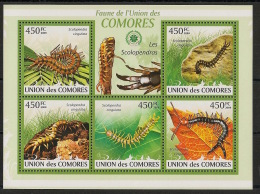 Comores - 2009 - N°Yv. 1746 à 1750 - Scolopendre - Neuf Luxe ** / MNH / Postfrisch - Insekten