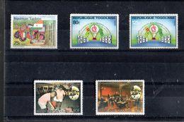 TOGO 1264 + 1265/1266 +1270/1271** SUR DIFFERENTS ANNIVERSAIRES DONT CROIX ROUGE - Togo (1960-...)