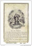 Dp 102 ( 2 Scans ) Joanna VAN RANST Geb Te Eykevliet 1808 + Willebroeck 1857 - Andachtsbilder