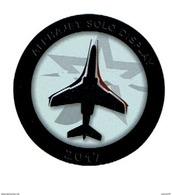 Autocollant Vignette  Armee De L'air Alphajet Solo Display  2017   D70mm - Aviation