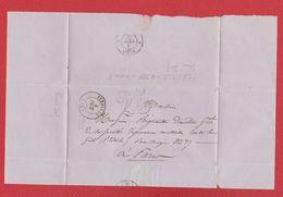 Plis / De Yerville /  Pour Paris / 4 Août 1850 - Postmark Collection (Covers)