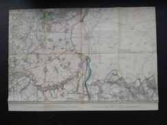 Topografische En Militaire Kaart STAFKAART 1905 Tongeren Maastricht Valkenburg Bilzen Vise Eben Emael Veldwezelt Lanaken - Cartes Topographiques