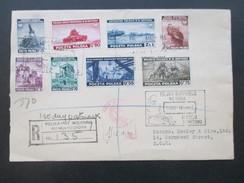 Polen 2.WK Exil Regierung London Nr. 360-367 Satzbrief / FDC Zensur / Viele Stempel / R-Brief. Schiffspost?! RR - 1939-44: World War Two