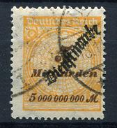 19198) DEUTSCHES REICH Dienst # 85 Gestempelt Aus 1923, 110.- € - Dienstpost