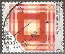 Pays Bas - 2006 - Composition Avec Des Carreaux Rouges - YT 2299 Oblitéré - Periodo 1980 - ... (Beatrix)