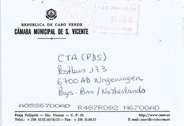 """Cabo Verde 2002 Mindelo Meter Franking Hasler """"Mailmaster"""" 2 EMA Cover - Cape Verde"""