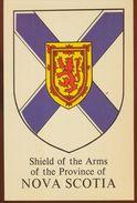 Postcard Canada Arms Of Nova Scotia, Heraldry - Nova Scotia