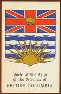 Postcard Canada Arms Of Bitish Columbia, Heraldry - British Columbia