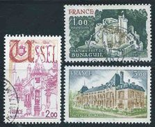 France - 1976  - Série Touristique  - N° 1871/1872/1873  - Oblitérés - Used - Oblitérés