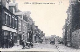 Crecy Sur Serre Rue Des Telliers - Voiture - Non Circulé - France