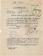 Aviso De Recibo De Correo Certificado, Con Censura Militar De Oviedo, 2 Scaner - 1931-Today: 2nd Rep - ... Juan Carlos I