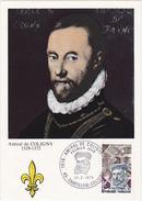 FDC / 1973 CHATILLON-COLIGNY / Amiral De COLIGNY 1519-1572 / Timbre 0.50 + 0.10 - FDC