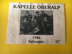 5643 -  Kapelle Oberalp Salvagnin 1986 Suisse - Musique
